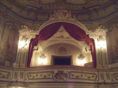 loge Schwarzenberg du théâtre du château de Cesky Krumlov