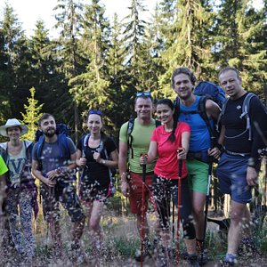 Hike in Western Tatras with a guide. We reached a summit Baranec (2184m)