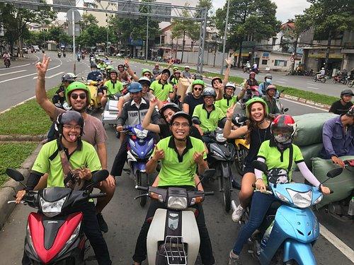 on the china town with saigon on motorbike team