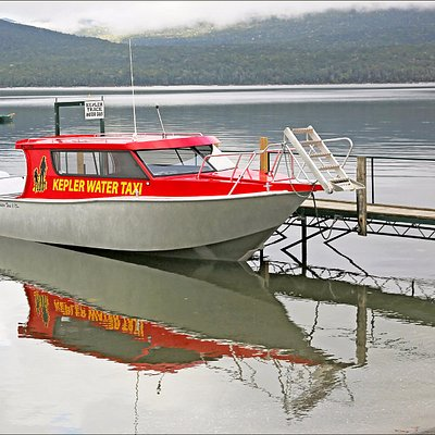 Water Taxi at Lake Te Anua New Zealand