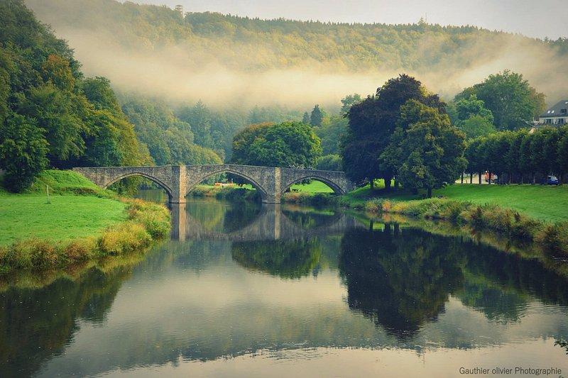le pont de Cordemois qui mène par la seul route qui ai pour aller au monastère