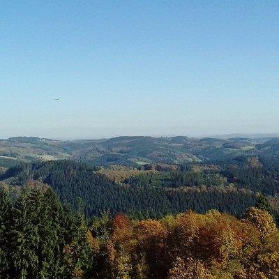 Blick vom Aussichtsturm Unnenberg