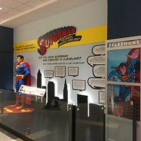 The new Superman exhibit at Cleveland airport