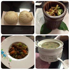 珍菌包(16元)上上釜(66元)仏門泡飯(38元)宮爆猪頭茹(68元)