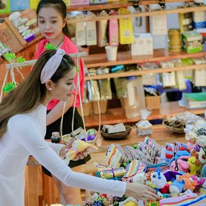 Hoa Hậu Hoàn Vũ Phạm Hương ghé tham quan và mua sắm tại Han Shopping Complex
