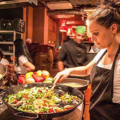 Paella Making in Barcelona