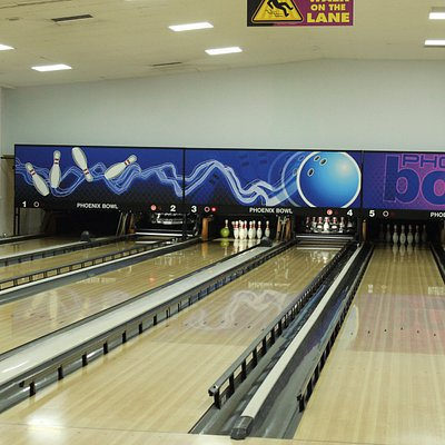 A view of a few of the lanes