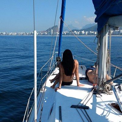 A caminho da praia de Copacabana