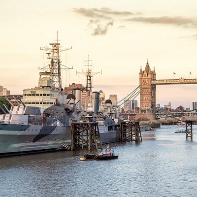 HMS Belfast and Tower Bridge taken on our South Bank Photo Walk