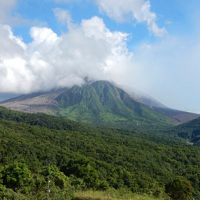 View of the Volcano in the distance