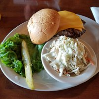 The Rascal's Burger with cole slaw (also great)