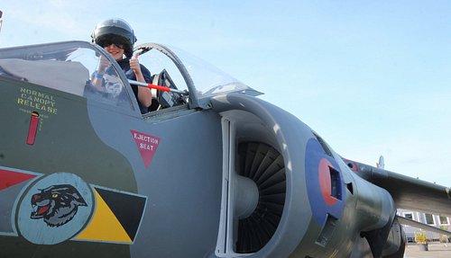 Climb aboard our Hawker Harrier jet