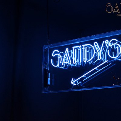Our Sandy's neon sign!