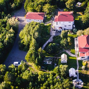 Over head view of property