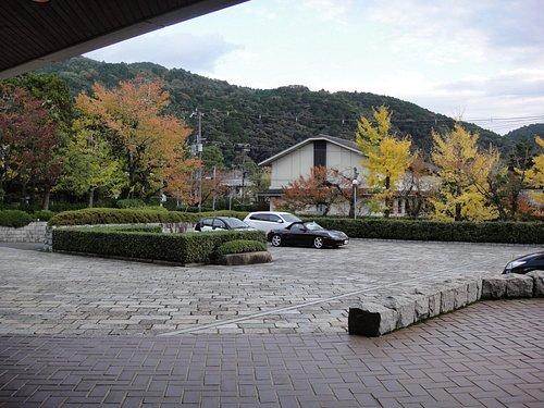 前庭と駐車場