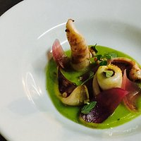 Calamari in crema asparagi