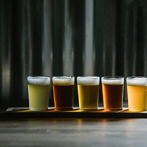Flights are available with your choice of 5 4 oz. pours
