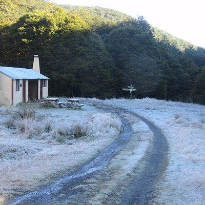 Frosty Flora hut