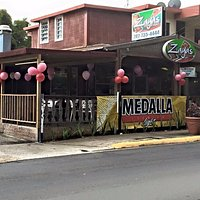 Zayas Pizza Aibonito Puerto Rico on Calle Pedro Rosario. Great place to stop by and let your hai