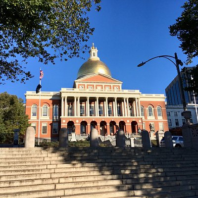 Along my morning run... Massachusetts State House
