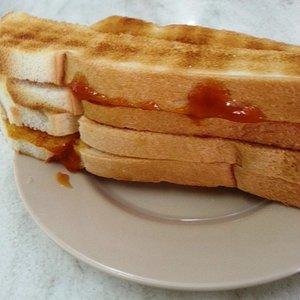 Crispy toast with Kaya.