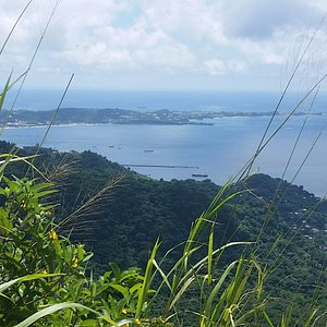 View of the south of the island taken from Mount Mariah