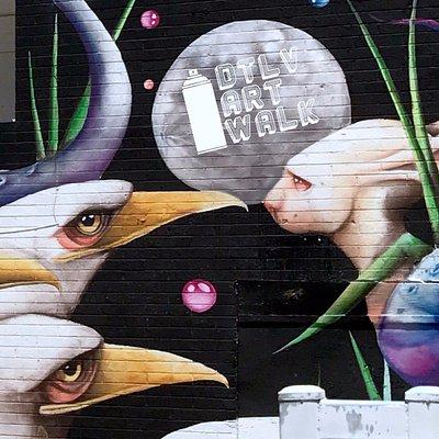Mural in Downtown Las Vegas by artist, Ana Marietta