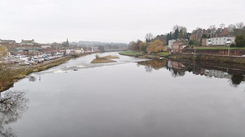 View downstream from the bridge