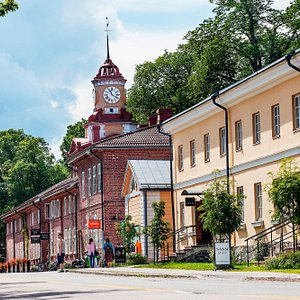 The main street in Fiskars Village
