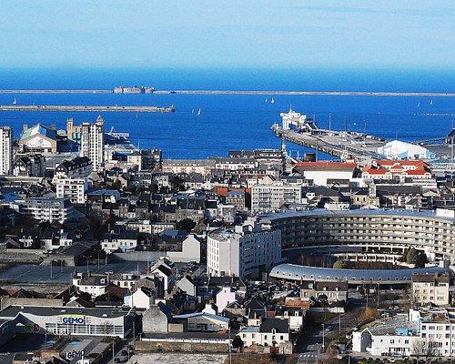 Cherbourg en cotentin vue de la Montagne du Roule