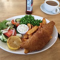 Fish and chips - what a feast.