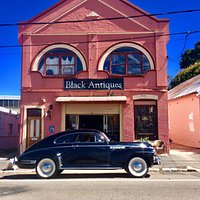 Store front, building circa 1900 with 1941 Buick special