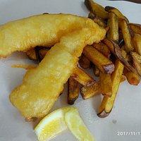 Cod and kumara fries, yum!