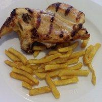 Pechuga de pollo a la brasa