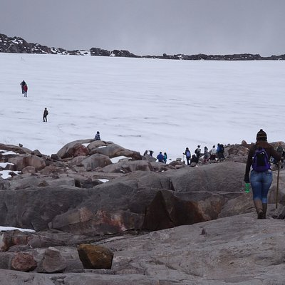 Borde del Glaciar Nevado de Santa Isabel