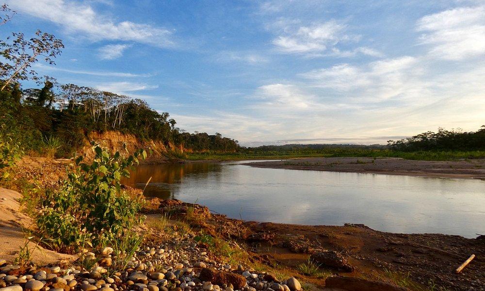 Uitzicht op de Rio Quiquibey