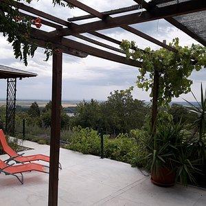 Terrace at Plavinci Organic Winery