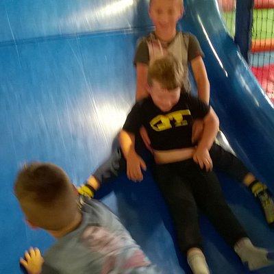 Boys on the slide