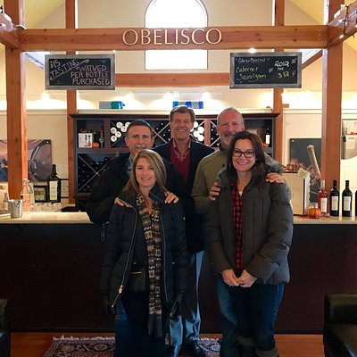 Visiting Obelisco Estate in Woodinville, WA with Taylor Tasting Tours.