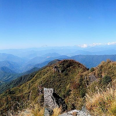 Panoramic view from Thambi View point, R-Silk Route & L-Kangchenjanga