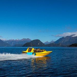 Heading across Manapouri