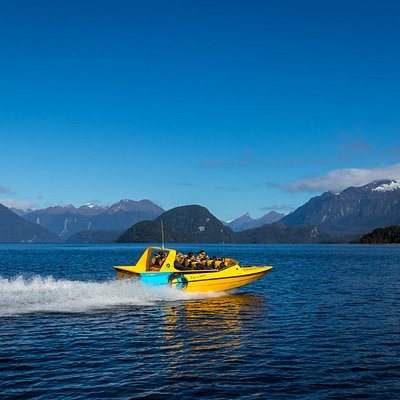 Heading across Manapouri