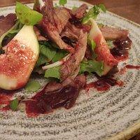 Confit Duck & Fig Salad starter