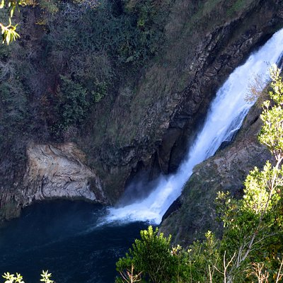 la cascata, salto inferiore, vista dalla zona dei Templi