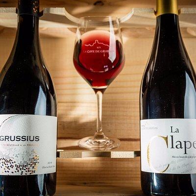 Les AOP La Clape de La Cave de Gruissan: Grussius et La Clape_Leclerc_aspheries