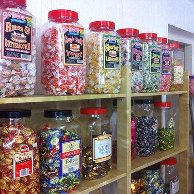 Traditional 'old fashioned' sweets in jars