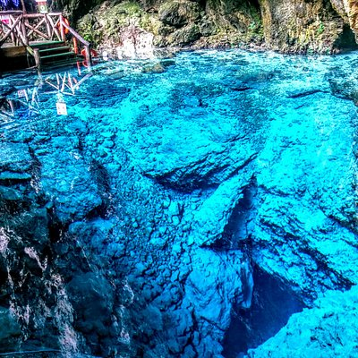 View of Cenote Hoyo Azul at Scape Park Cap Cana Dominican Republic