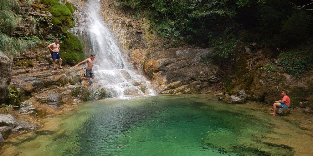 Olympus Red Rock Waterfall