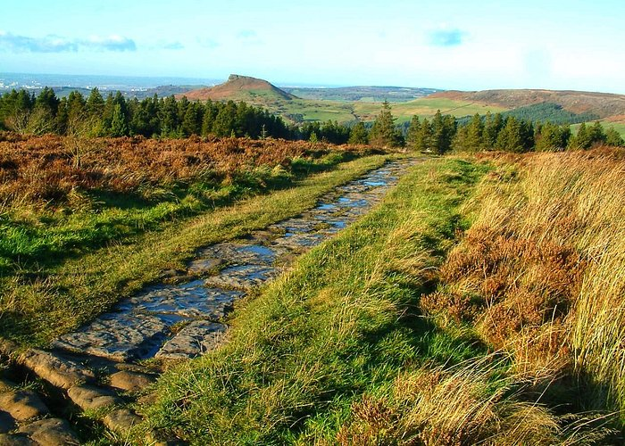 View toward Roseberry Topping from Captain Cooks Monument