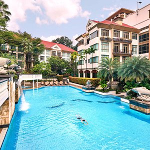 Outdoor Pool at Treetops Executive Residences